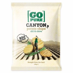 Canyon chips dille chive, 125g, Go pure