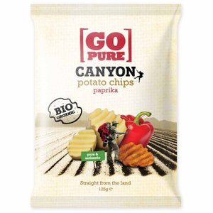 Canyon chips paprika, 125g, Go pure