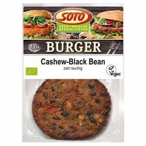 Cashew-zwarte bonen burger, 160 gram, Soto