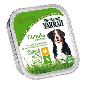 dogfood chuncks  kip groente, 150g, Yarrah