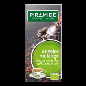 Engelse melange thee, zwarte, 20x 1kop (Piramide, bio)