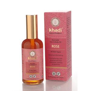 Face  body oil rose, 100ml, Khadi