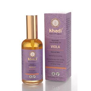 Face  body oil viola, 100ml, Khadi