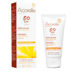 face sunscreen spf 50, 50ml, Acorelle