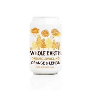 Frisdrank, sinaasappel-limoen, 330cl, Whole Earth