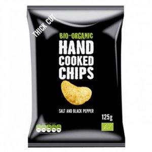 Handcooked chips, zeezout-peper, 125gr, Trafo