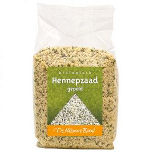 Hennepzaad, gepeld, 500gr, De Nieuwe Band