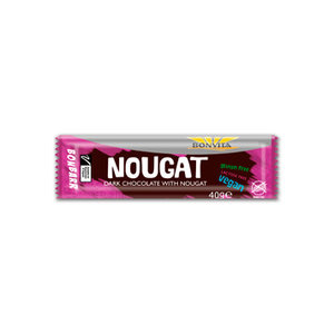 nougy nougat (bonbarr) puur, 40g, Bonvita