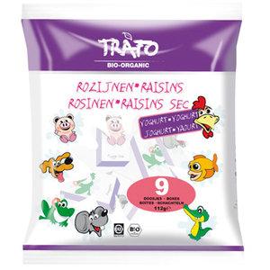 yoghurt-rozijntjes in doosje, 112g, Trafo