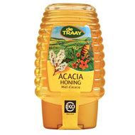 Acaciahoning knijpfles, 375gr, de Traay honing