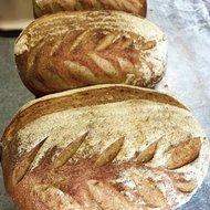 Speltvolkoren en speltbloem desem brood, 650 gram, Bosakker Brood