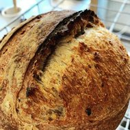 Bruin, tarwe volkoren en tarwemeel brood, 650 gr, Bosakker Brood